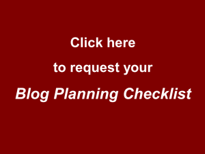 Blog Planner Request Button